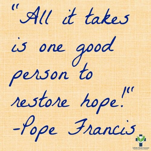 ONE person CAN restore HOPE!
