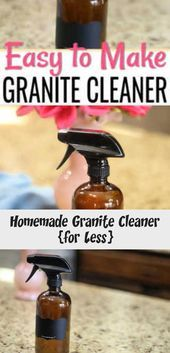 How To Clean Granite Countertops Easily With This Homemade Granite