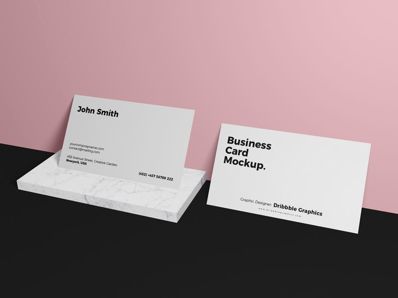 Free Business Card Brand Mockup Psd 2018 Free Business Card Mockup Business Card Mock Up Business Card Branding