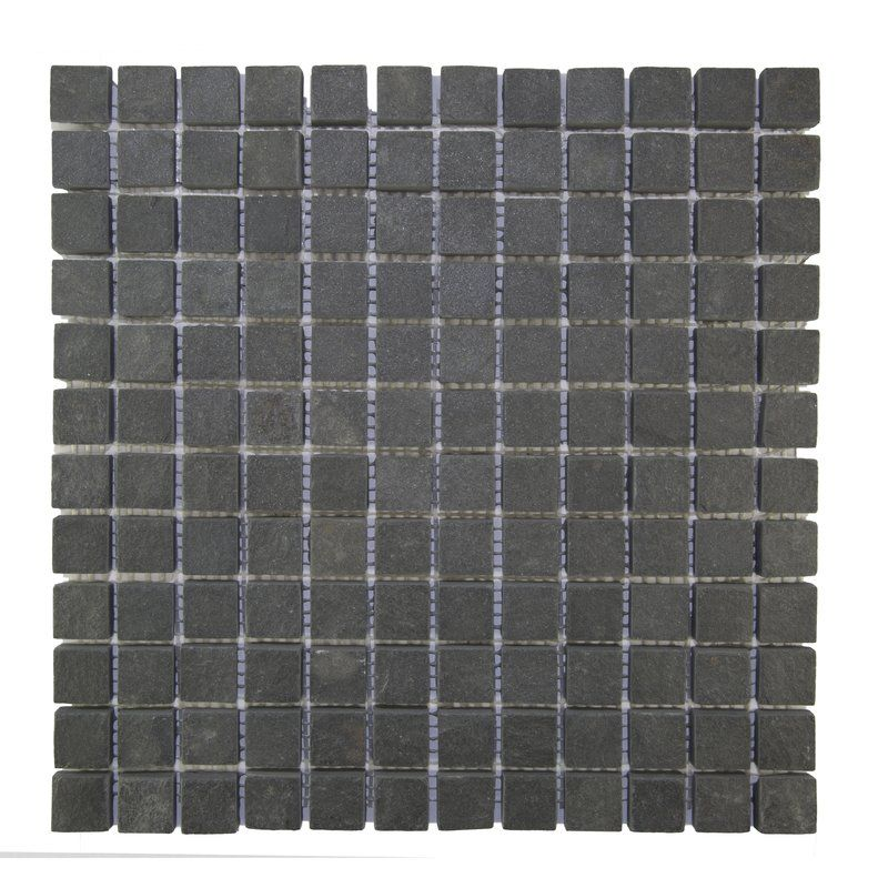 1 X 1 Natural Stone Mosaic Tile In Black Delridge House Stone Mosaic Tile Mosaic Tiles Stone Mosaic