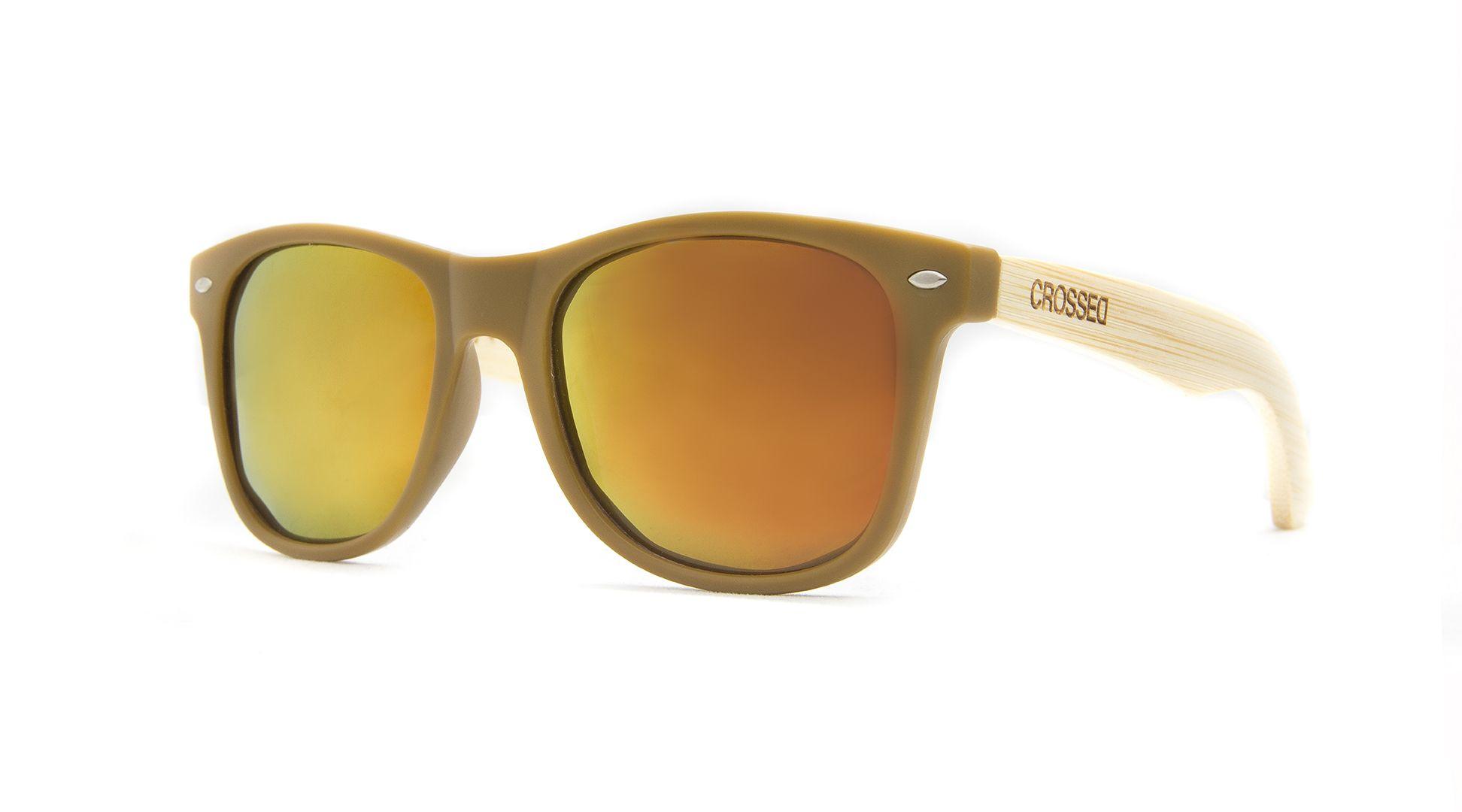 KAKI-ESPEJO NARANJA - 49,95€ - BAMBU - CROSSED Sunglasses | gafas de madera, polarizadas, moda, wood sunglasses