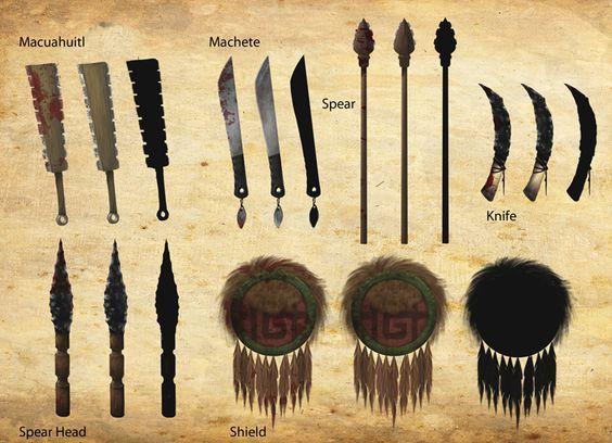 aztec weapons - Google-søgning: | Aztec~A past life of ...