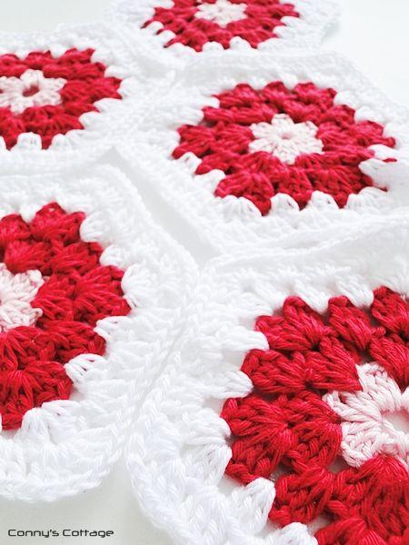 Connys Cottage: DIY - Crochet Hexagon Granny | hexagonos | Pinterest ...