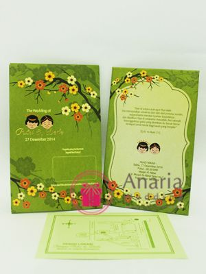 Celebrate ur wedding day with this super cute green and blossom celebrate ur wedding day with this super cute green and blossom design wedding invitation contact stopboris Gallery