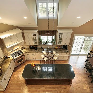 Corner Cooktop And Island Ideas Aerial Shot Corner Stove Kitchen Remodel Small Kitchen Layout