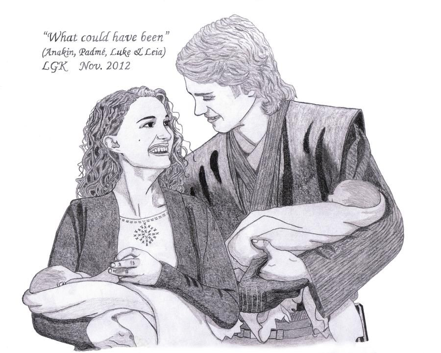 What Could Have Been Anakin Padme Luke Leia By Elfofcave On