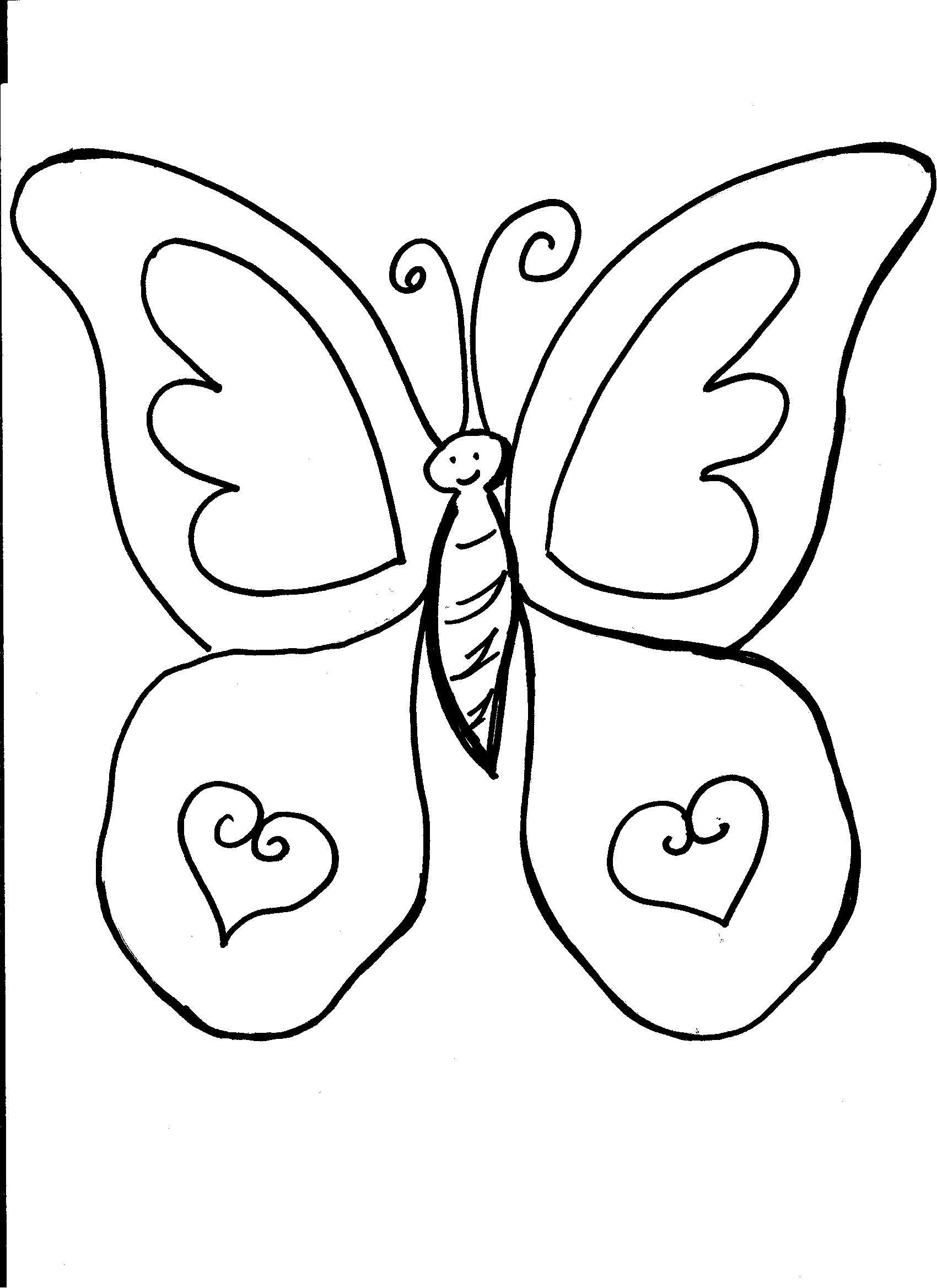 Imagenes Infantiles De Mariposas Para Colorear Mariposas Para Colorear Paginas Para Colorear De Animales Paginas Para Colorear