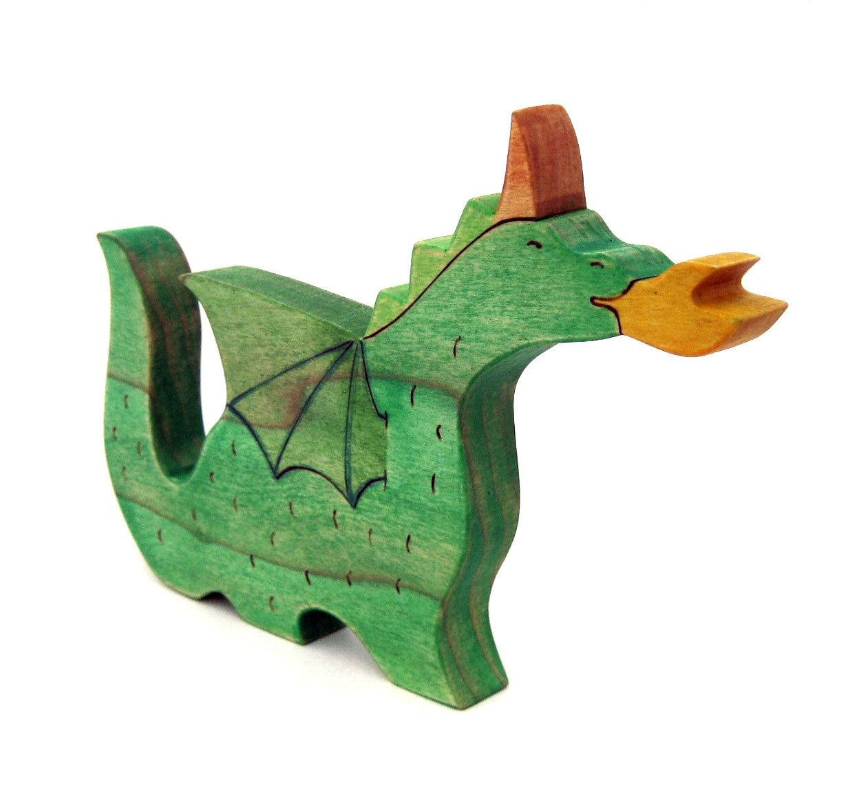 dragon toy wood toy childrens toy waldorf toy via etsy wooden nickel wood. Black Bedroom Furniture Sets. Home Design Ideas