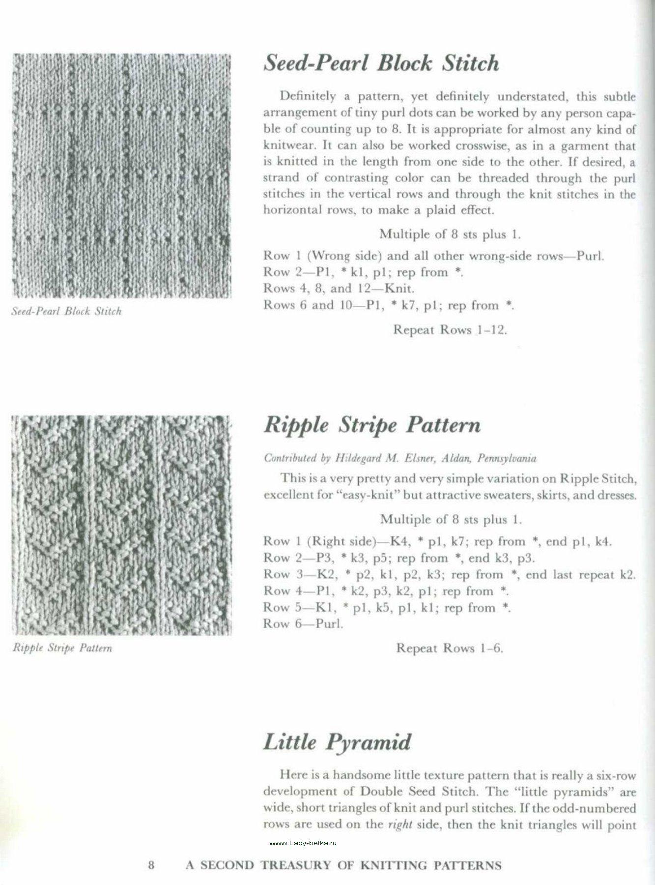 A Second Treasury of knitting patterns   Barbara G. Walker ...