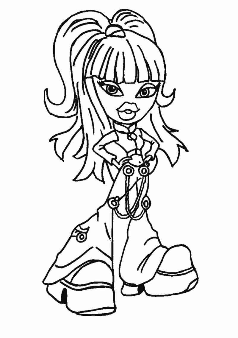 Bratz Coloring Pages Online From Bratz Coloring Pages Category