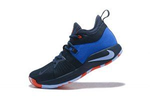 3e1d7d7c662c Men s Nike PG 2 Paul George OKC Home Dark Obsidian Silver AJ2040 400 Basketball  Shoes