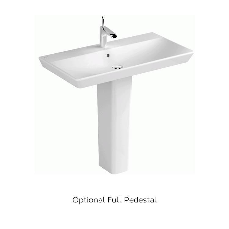 Vitra Designer T4 Basin With Optional Full Pedestal Chrome Towel
