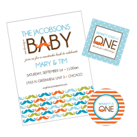 Little Man Mustache Bash Baby Shower Party Collection From - Fresh baby shower planner template design