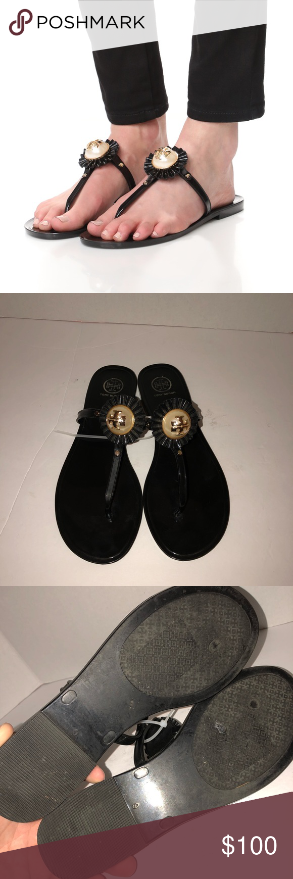 b50e69045818 Tory Burch melody mini miller things jelly sandal Worn before no box Tory  Burch Shoes Sandals