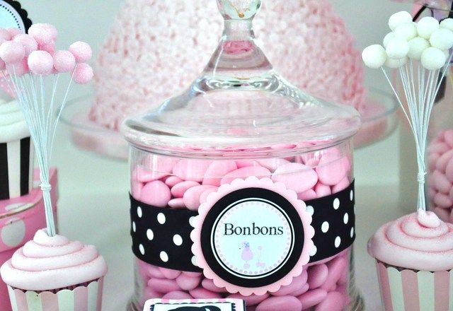 Astounding Vintage Barbie Candy Buffet Barbie Bday Party Candy Interior Design Ideas Clesiryabchikinfo