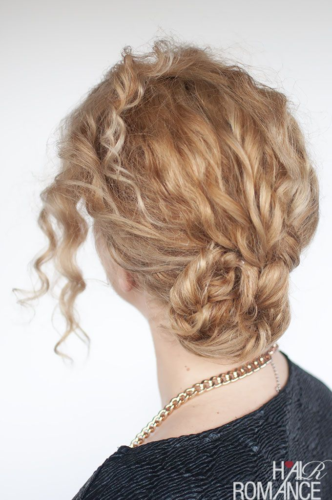 Easy Curly Braided Bun Tutorial With Images Curly Hair Styles