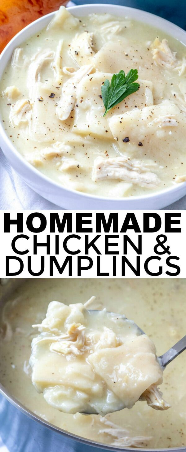 Homemade Chicken and Dumplings - A Comfort Food Classic