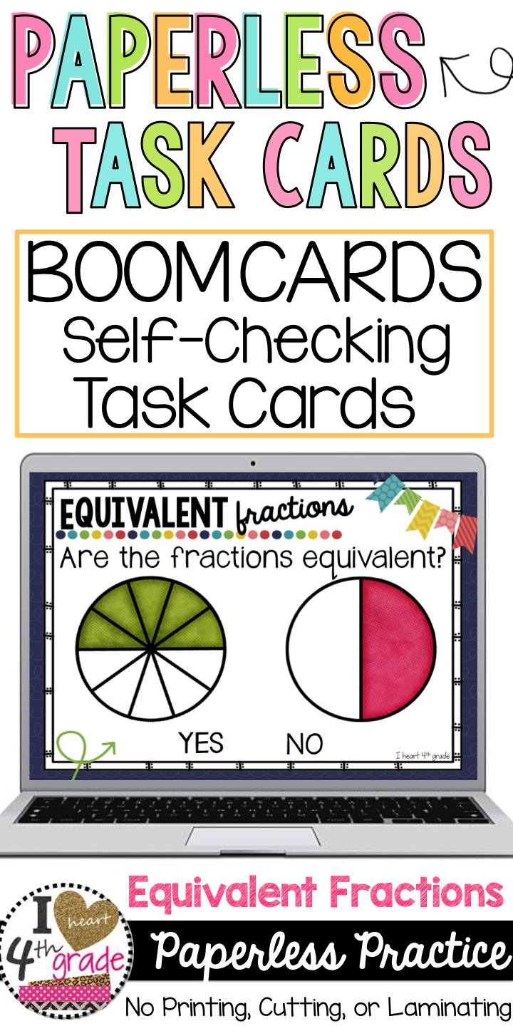 Equivalent Fractions | 3rd grade fractions | Boom Cards | Digital ...