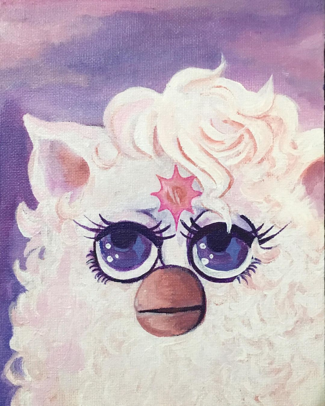 Last Unicorn Furby Original Painting In 2021 Original Paintings Furby Painting