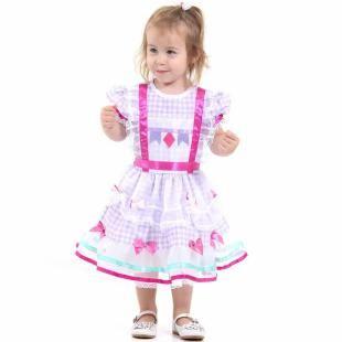 ff79b06b34e41 Fantasia de Festa Junina Bebê Vestido Caipira Baby - Sulamericana com as  melhores condições você encontra