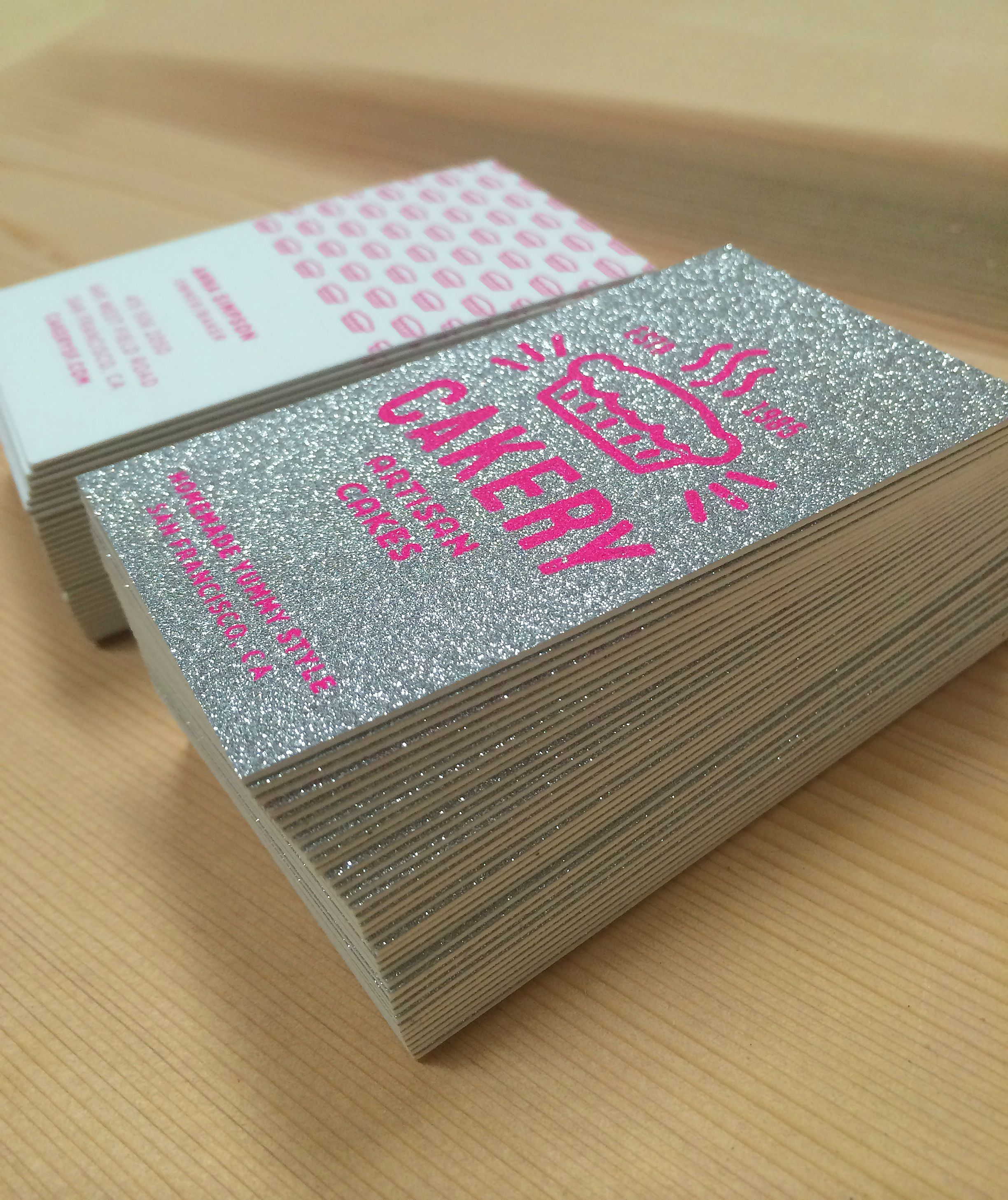 Fabulous New Sparkle Business Cards By Jukebox Print Like This