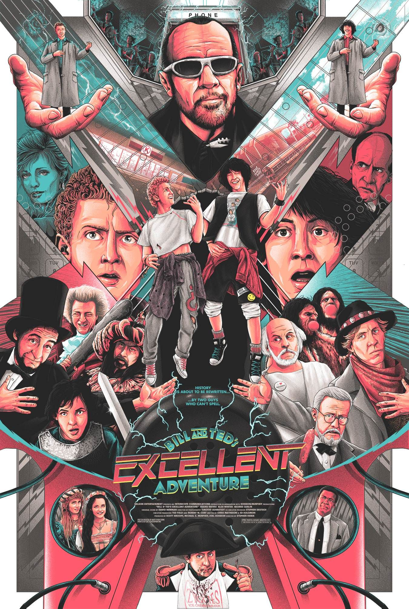 Bill And Ted S Excellent Adventure 1989 1350 X 2011 Adventure Movie Movie Posters Poster Art