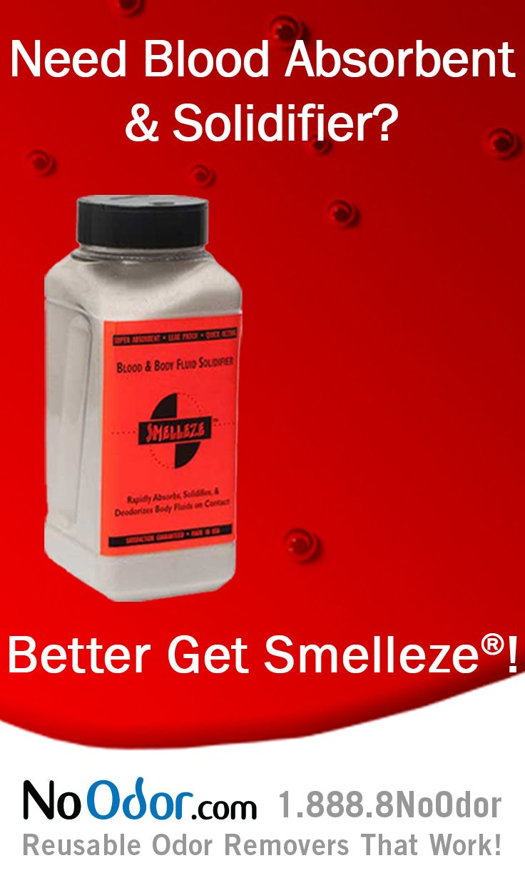 Smelleze® Blood & Body Fluid Spill Clean Up Absorbent | Body fluid