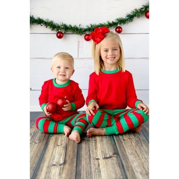Personalized Christmas Pajamas Kids.Items Similar To Personalized Christmas Pajamas Matching