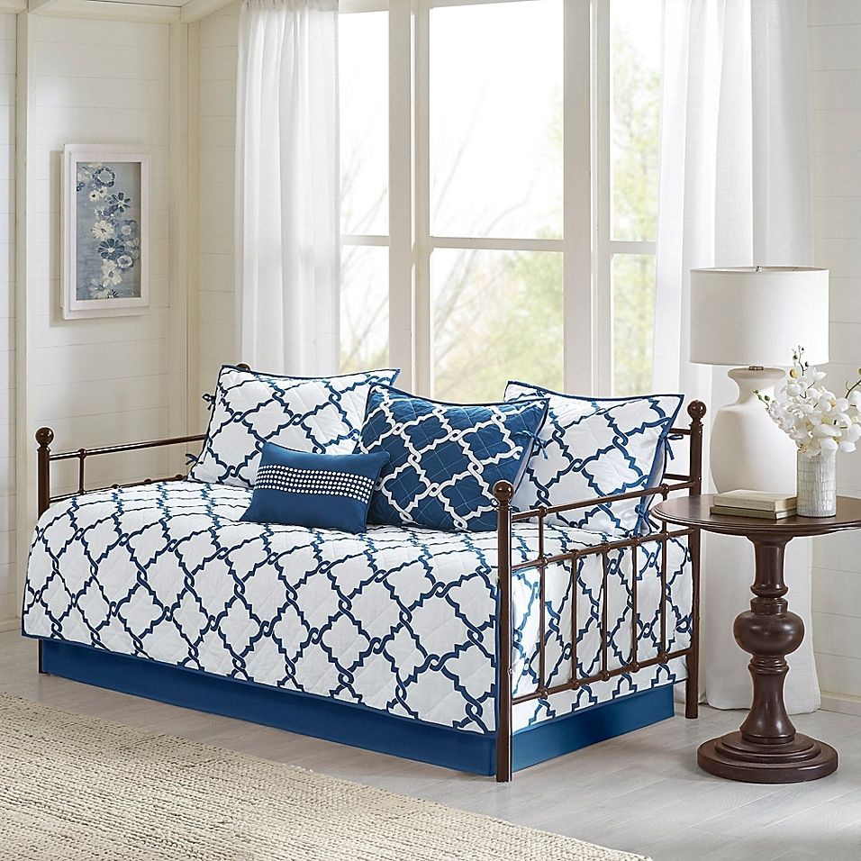 Madison Park Essentials Merritt Reversible Daybed Set In 2020 Daybed Sets Discount Home Decor Trendy Bedding
