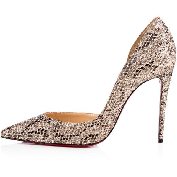 d0d5b1542947 Iriza 100 Roccia Glitter - Women Shoes - Christian Louboutin ( 695) ❤ liked  on Polyvore featuring shoes