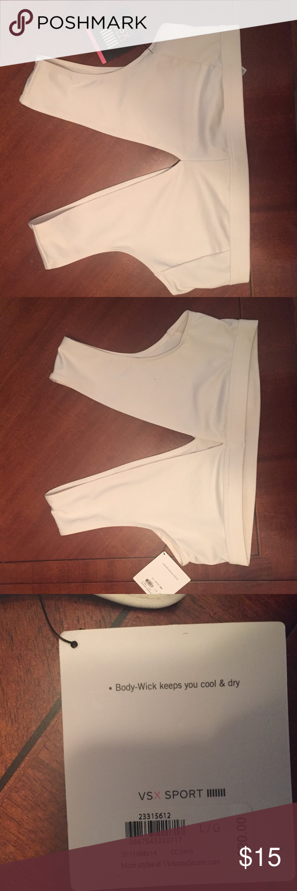 VSX SPORTS sports bra Off white sports bra with a chic stylish cut for the gym or a night out. Body wick keeps you cool and dry Victoria's Secret Intimates & Sleepwear Bras