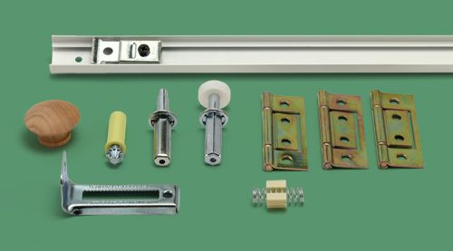 30 Bifold Door Track And Hardware Kit 2 Panel Closet Door Track Bifold Door Hardware Bifold Closet Doors