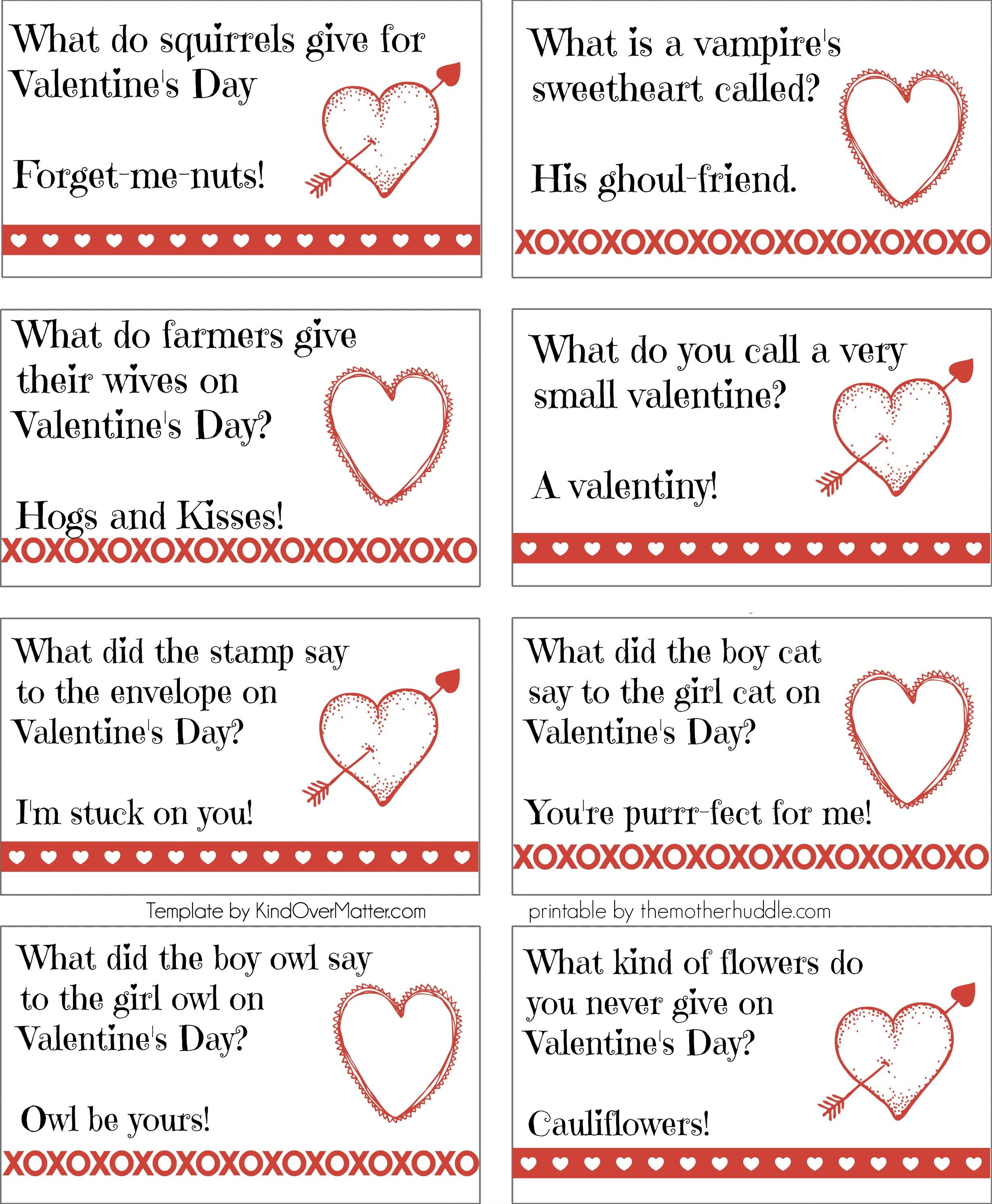 Uncategorized Valentines Day Riddles printable valentine joke notes crafthubs walentynki pinterest crafthubs