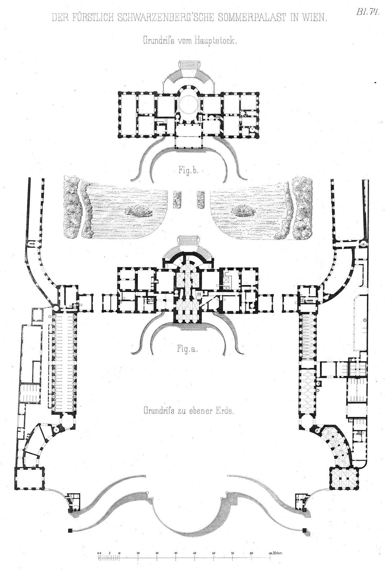 Floorplans Of The Schwarzenberg Summer Palace Vienna Architectural Floor Plans Vintage House Plans Palace