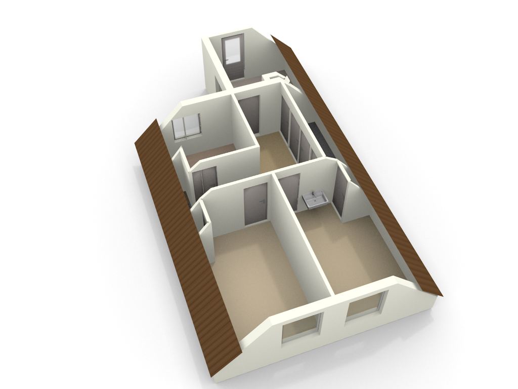 3D Floor Plan Of An Attic Made With Floorplanner.com