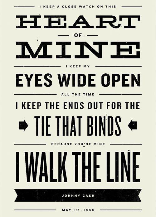 Johnny Cash Lyrics Walk The Line