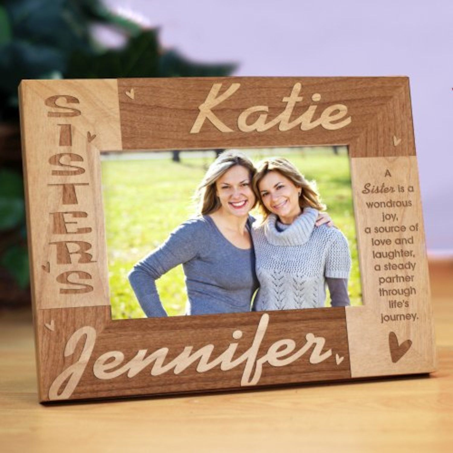 Personalized Sisters Wooden Picture Frame | Products | Pinterest ...