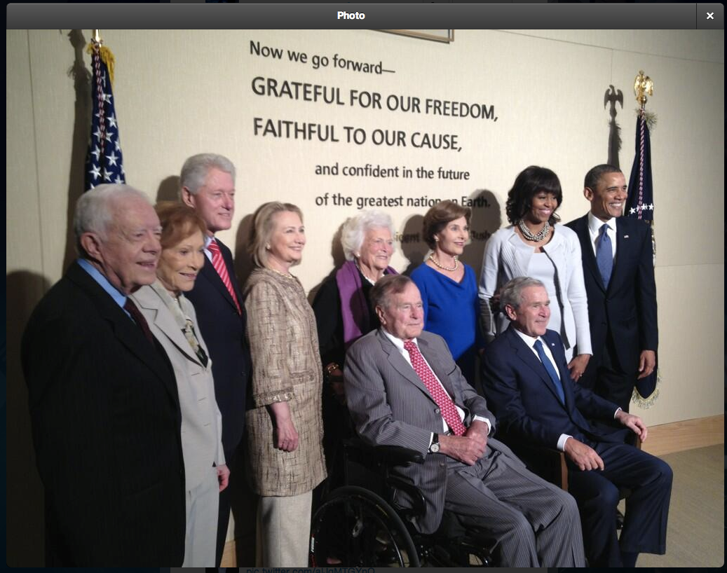 See All 5 Living Presidents Together [PIC] Presidents