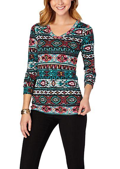 Tribal Cozy Knit Top Rue21 ℓσтнєѕѕ Tops Fashion Nice Dresses