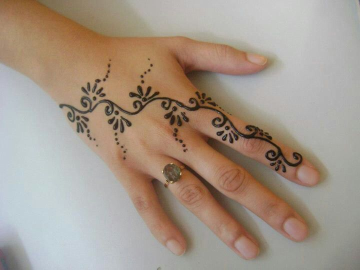 Henna Tattoo Hand Leicht Klein: Simple Henna Tattoo, Cute Henna