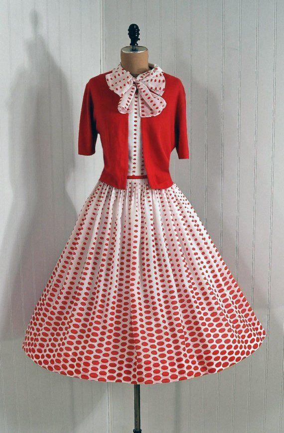 Vestido   Moda   Pinterest   Vestiditos, Lunares y Decada