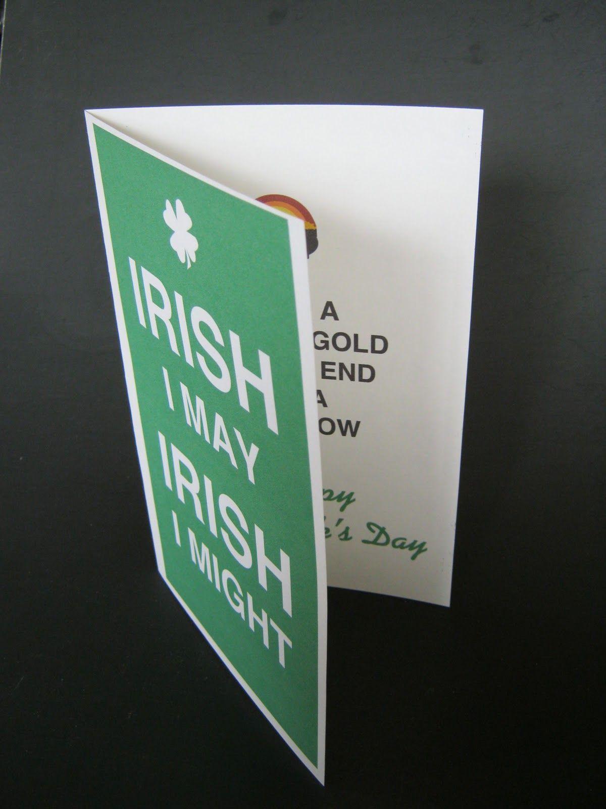 CAN'T STOP MAKING THINGS Irish I May Day, Printable