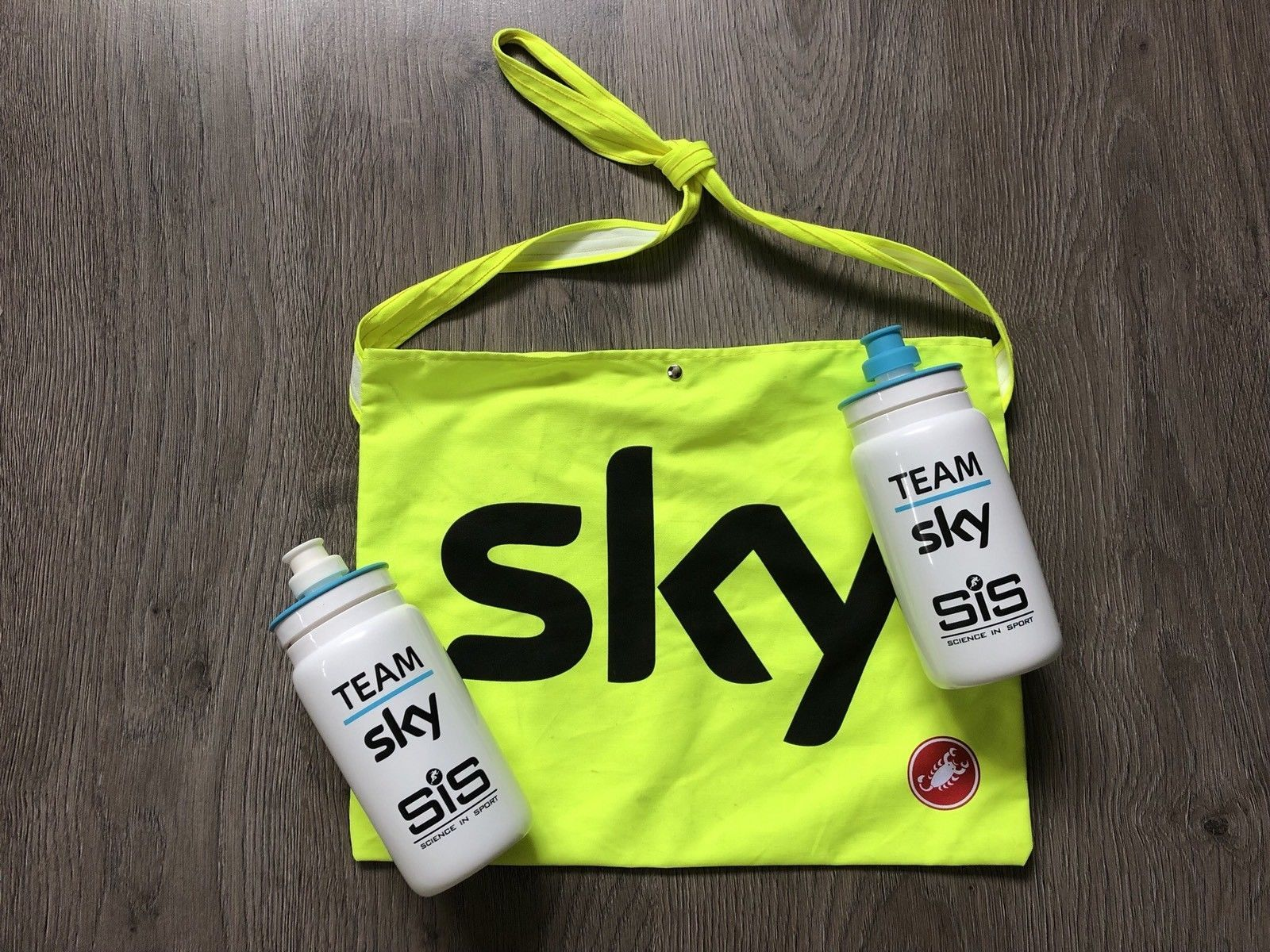 Castelli Team Sky Cycling Musette Bag Green FOC Postage BNWoT