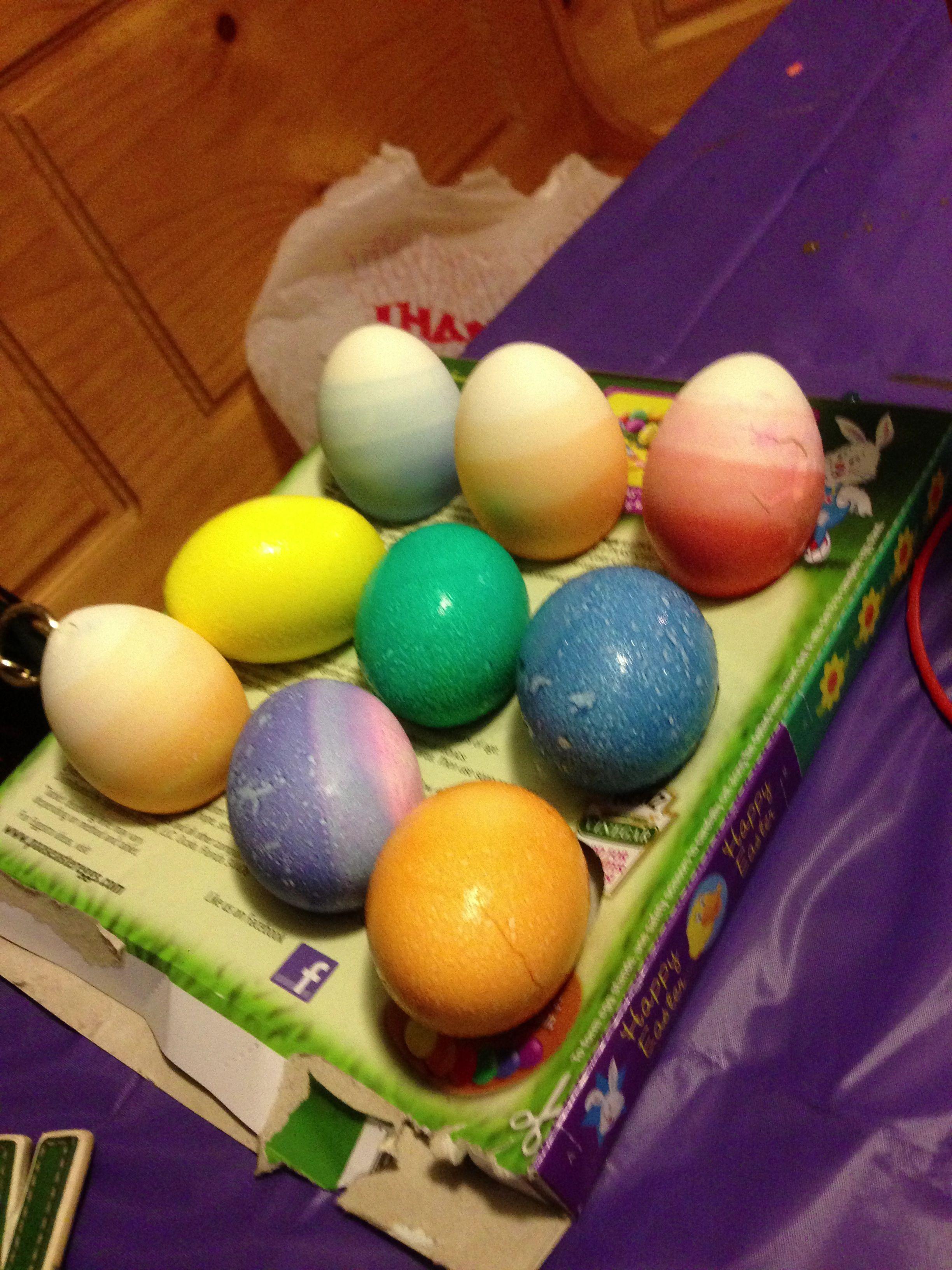 Ombré & Galaxy Eggs Eggs, Creation, Food