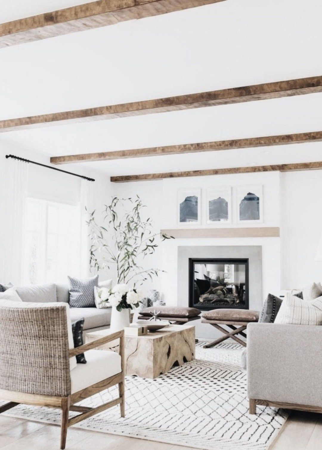 43 modern farmhouse style decor ideas for your living room 33