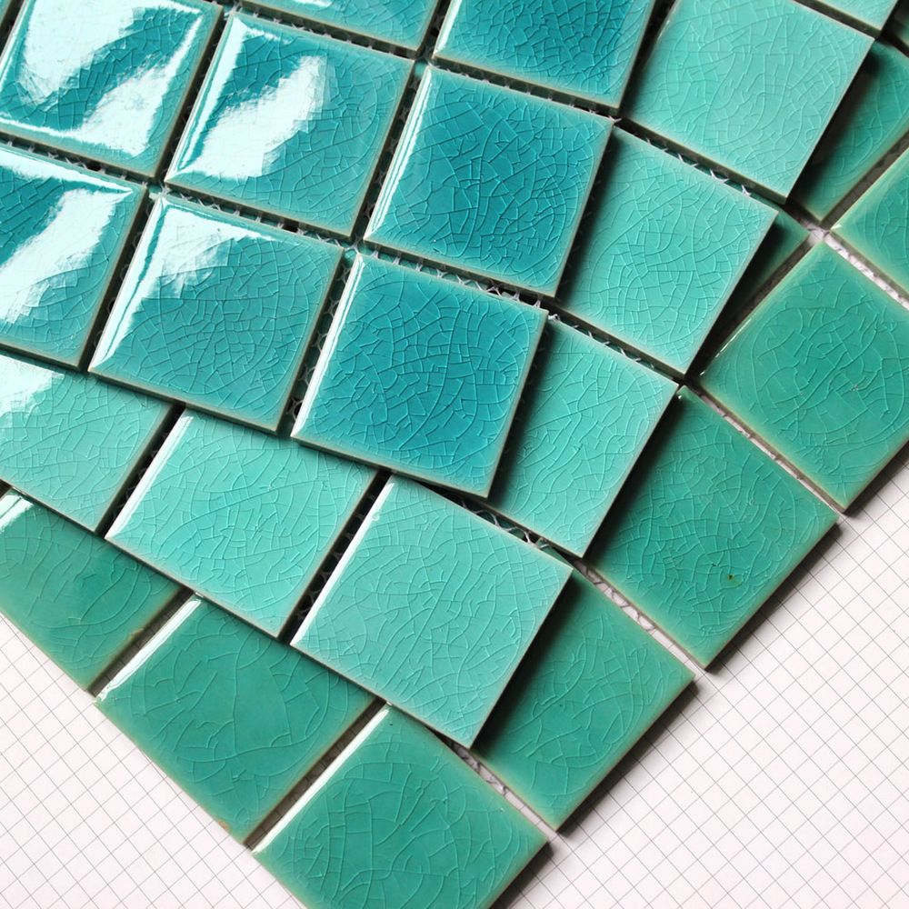 Ao tingte binglie glazed ceramic mosaic tiles swimming for Swimming pool tile pictures
