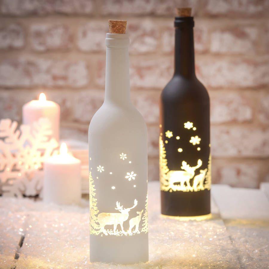 Light Up Led Christmas Bottles Light Up Bottles Bottle Lights Light Crafts