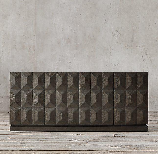 Geometric 4-Door Sideboard