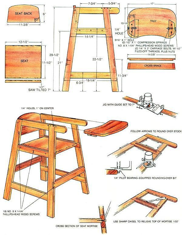 How to Build a Homemade High Chair - Do-It-Yourself - MOTHER EARTH NEWS  sc 1 st  Pinterest : baby chair wooden - Cheerinfomania.Com