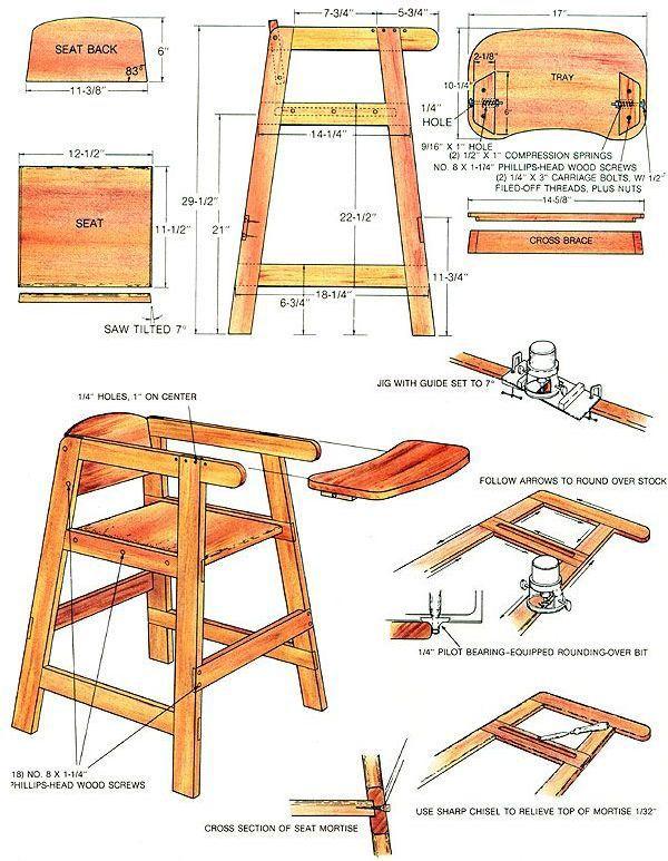 How to Build a Homemade High Chair – High Chair Dimensions